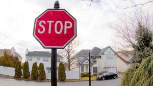 elegant stop sign