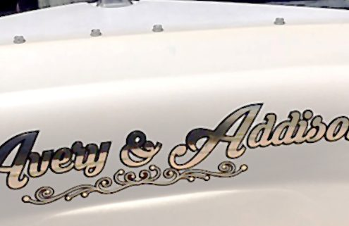 Vehicle Graphics on boat transom