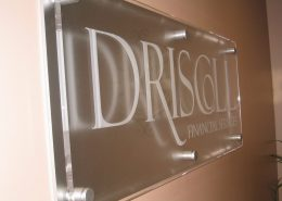 corporate etch glass vinyl sign