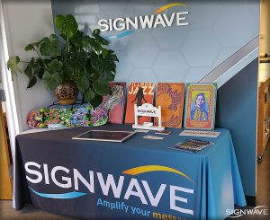 Signwave corporate and trade show sign samples