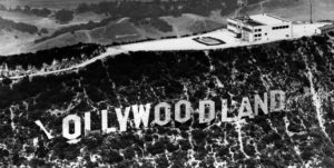 Hollywood's famous giant lettering