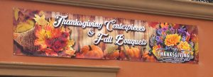 Fall signage for West Islip, NY flower shop