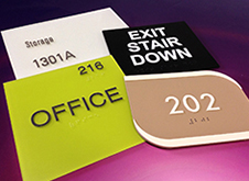 ADA compliant signs for offices and rest rooms