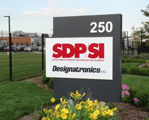 Designatronics business entrance sign