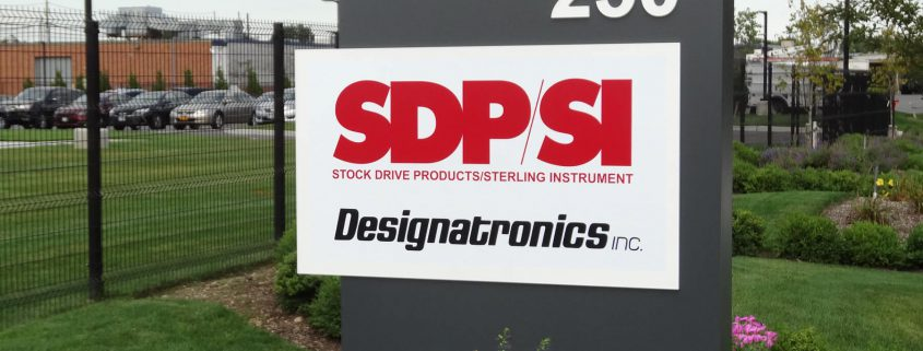 Designatronics business entrance sign