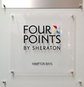 Hotel brand wall sign