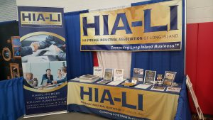 Retractable banner, table throw and event banner for HIA-LI