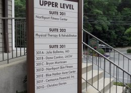 Northport Wellness Center outdoor directory sign