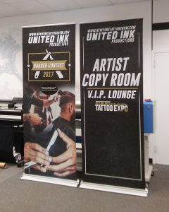 Temporary signage for indoor event in New York
