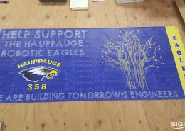 Event banner for Hauppauge High School Robotics