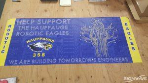 Event banner for Hauppauge High School Robotics