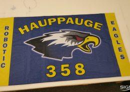 Fabric flag for High School robotics tournament