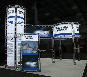 Truss system with trade show graphics