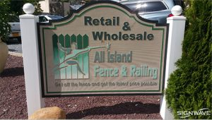 Outdoor dimensional sign