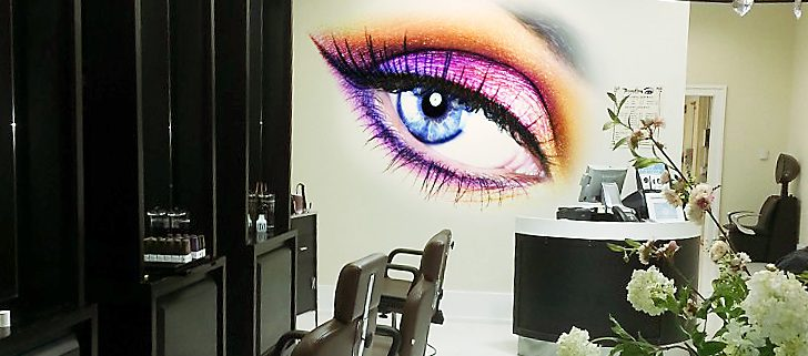 Wall Graphic in Aesthetics Salon on Long Island, NY