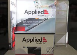 Trade show wall and podium
