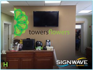 Wall graphics for office interior