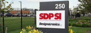 Aluminum and acrylic business property sign