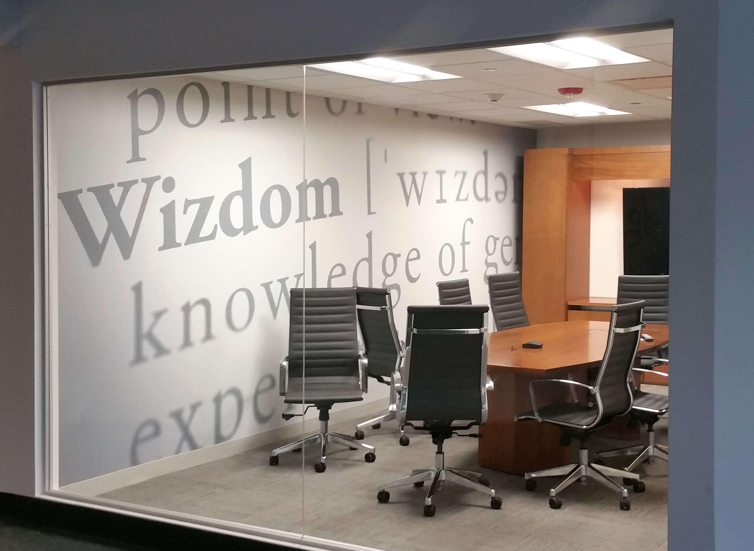 Custom Wall Graphics for Conference Room