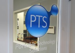 Door sign for technology company