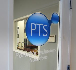 Door sign for Long Island technology company