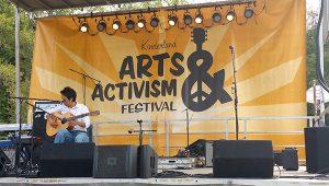 Outdoor Backdrop for Arts & Activism Festival, Long Island, NY