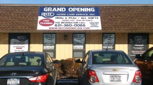 Grand Opening banner at new Suffolk location