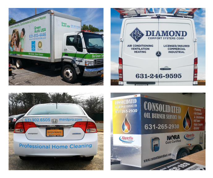 Vehicle wraps and graphics for trucks, vans and cars