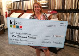 Giant check as event prop