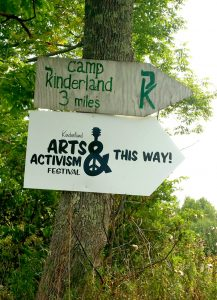 Temporary directional sign