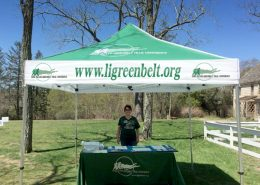 Branded tent for outdoor event