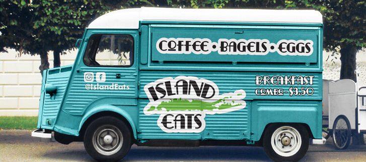 Retro Vinyl Graphics on a food truck
