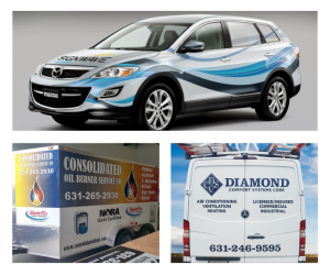 Full and partial wraps for cars, trucks, trailers and vans.
