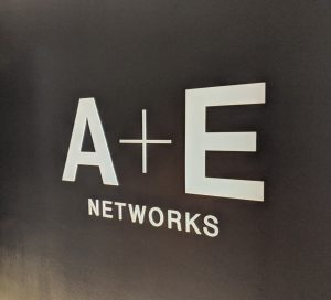 A+E networks wall graphic