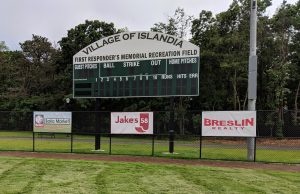 Outdoor signs, event signage, sponsor banners, baseball signs