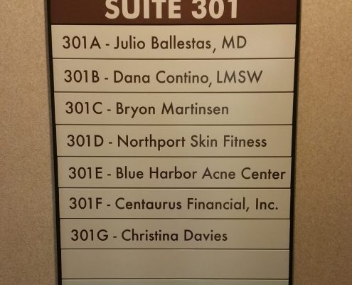Medical office directory sign
