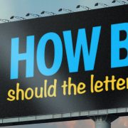 How big should the letters in a sign be?