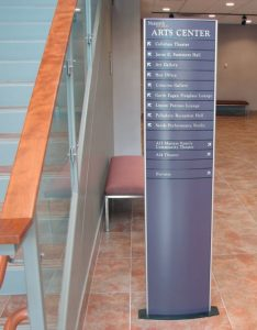 Freestanding Directory Sign in Lobby