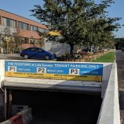 sign updates, vinyl, sign service and repair, sign repair, garage sign, property managers, parking sign