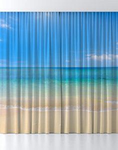 Custom-printed curtains