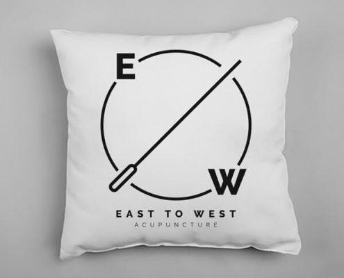 Custom branded pillow
