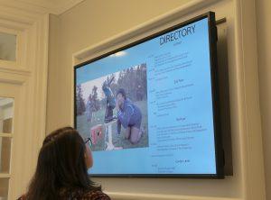 Tilt-mounted directory