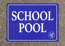 Outdoor sign for Hauppauge school pool