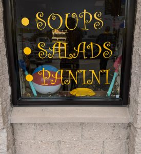 Vinyl lettering in a Retail Window