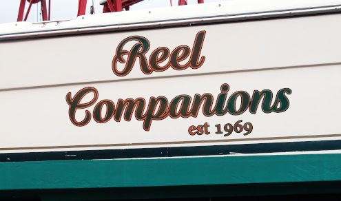 Reel Companions boat vinyl