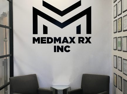Office wall logo decal