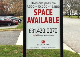 Large outdoor property sign
