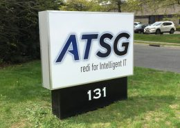 Large outdoor sign for ATSG IT