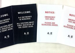 Emergency Exit and ID signs