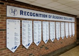printed banners interior high school valedictorian salutatorian